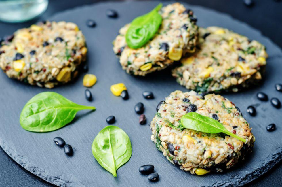 Quinoa Black Bean Veggie Burgers