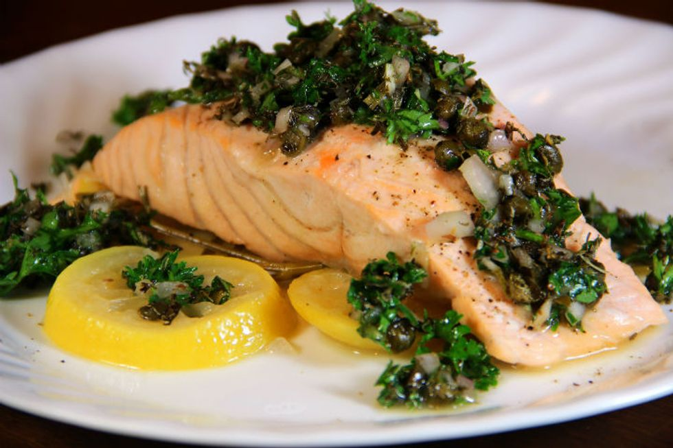 Oven-Poached Salmon With Lemon and Dill