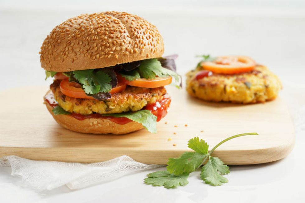 Carrot and Chickpea Veggie Burger