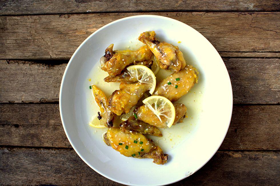 Lemon Avocado Oil Chicken Cutlets With Asparagus
