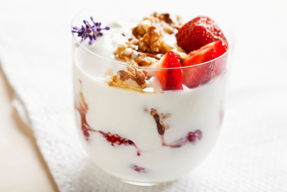 Walnut-Berry Yogurt Parfait