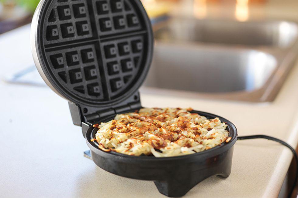 Cheesy Cauliflower Waffles