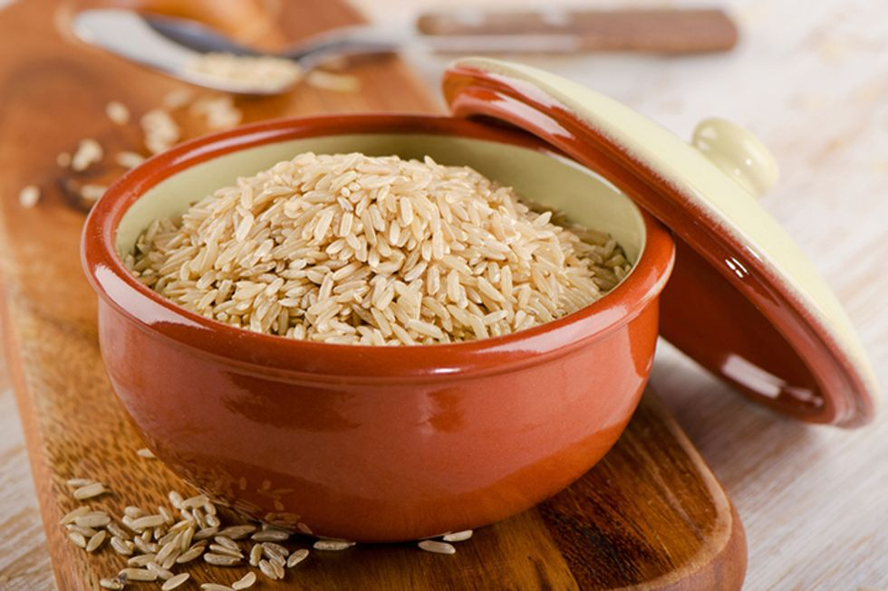 Gluten-Free Hot Brown Rice, Nuts and Flax