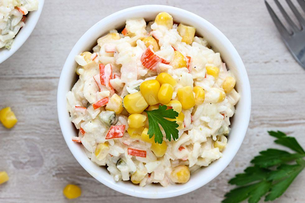 Crab Salad with Melon and Citrus Marinade