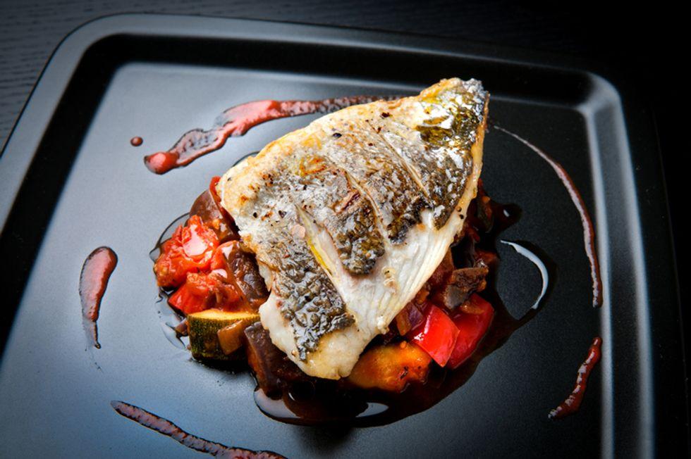 Sea Bass With Mediterranean Sauce