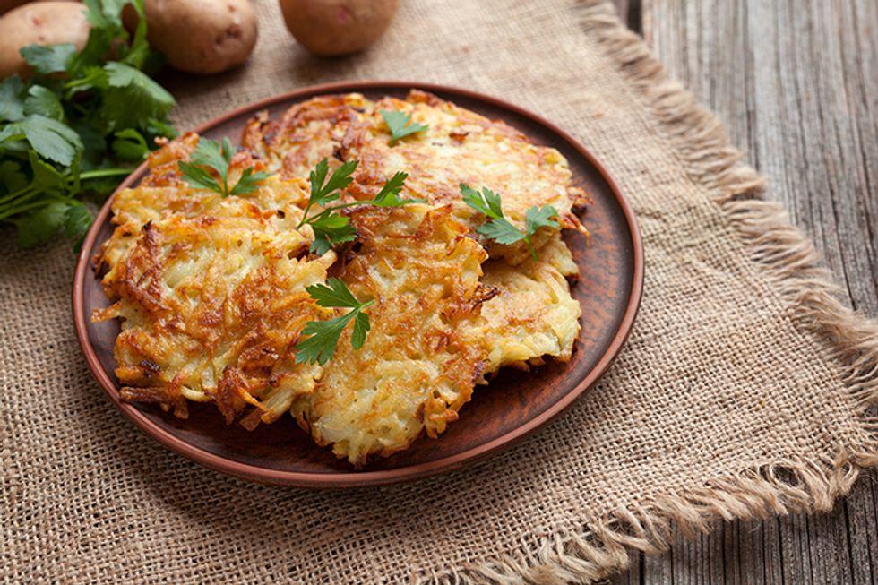 Rachael Ray's Potato Parsnip Pancakes