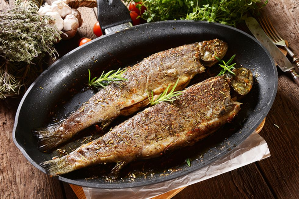Broiled Trout, Orata or Branzini with Rosemary and Lemon