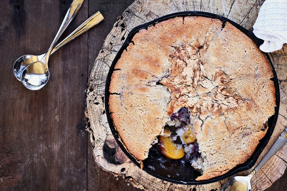 Rocco DiSpirito's Peach and Blueberry Cobbler With Ginger and Cinnamon