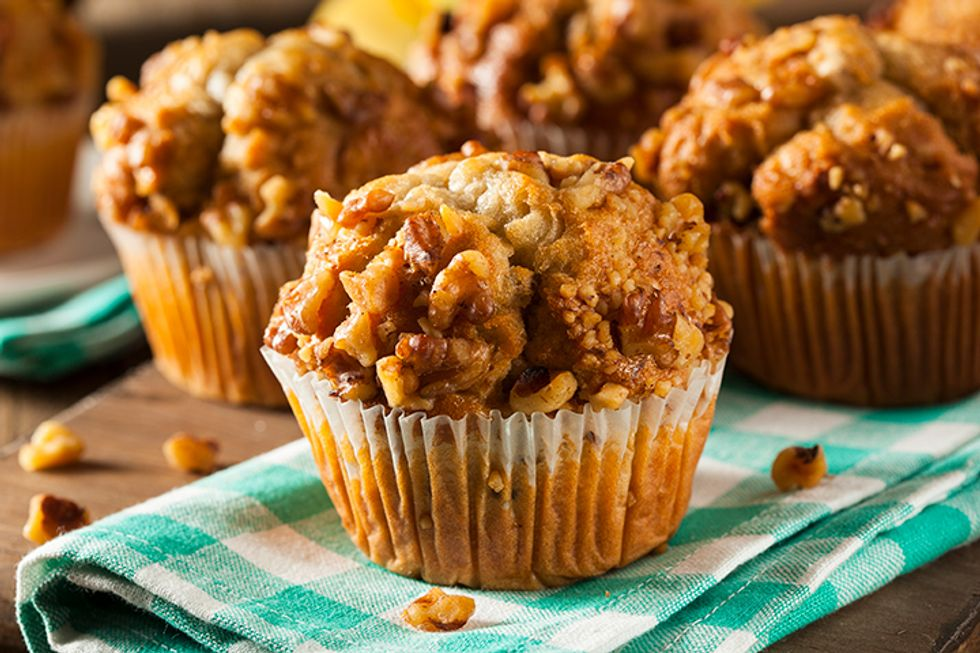 Post Raisin Bran Apple-Walnut Muffins