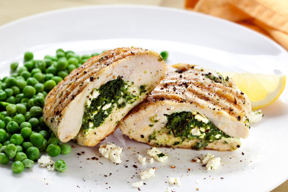 Hungry Girl's Spinach Artichoke Chicken