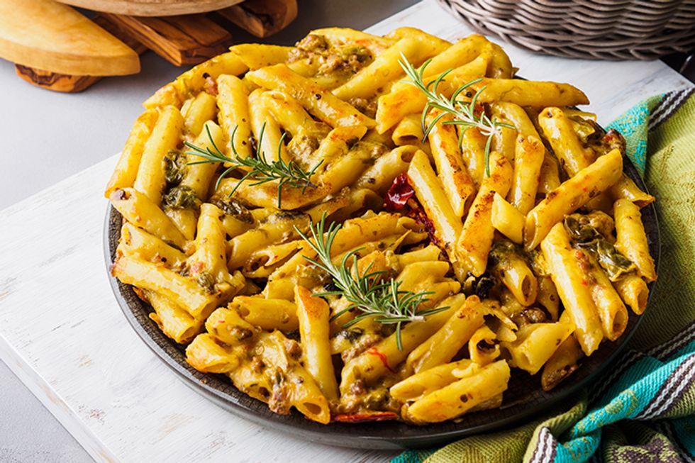 Culinary Institute $5 Veggie Pasta Pie