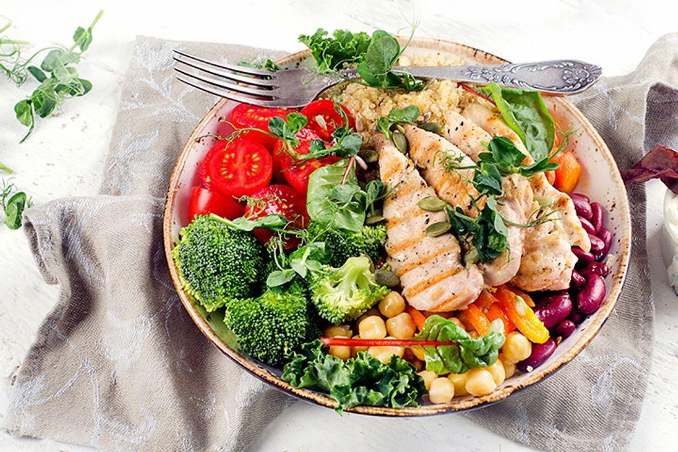 Dr. Matt Nguyen's Pan-Roasted Chicken With Roasted Broccoli-Quinoa Salad