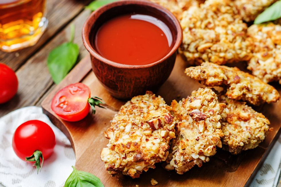 Dr. Mark Hyman's Almond-Flax Crusted Chicken
