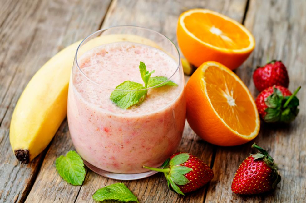 Raspberry-Orange Immunity Smoothie