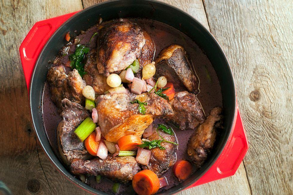 Michael Pollan's Wine-Braised Chicken