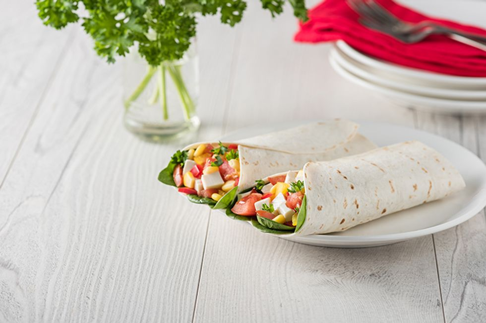 Thai Tofu Veggie Wrap