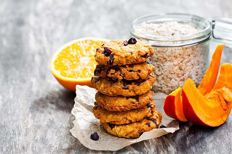 Spiced Pumpkin Raisin Cookies
