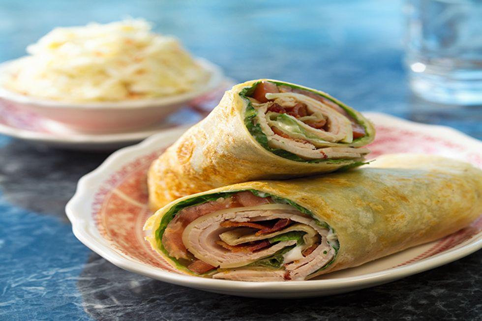 Sharona Shankar-King's Fuji Apple, Spinach & Turkey Wrap