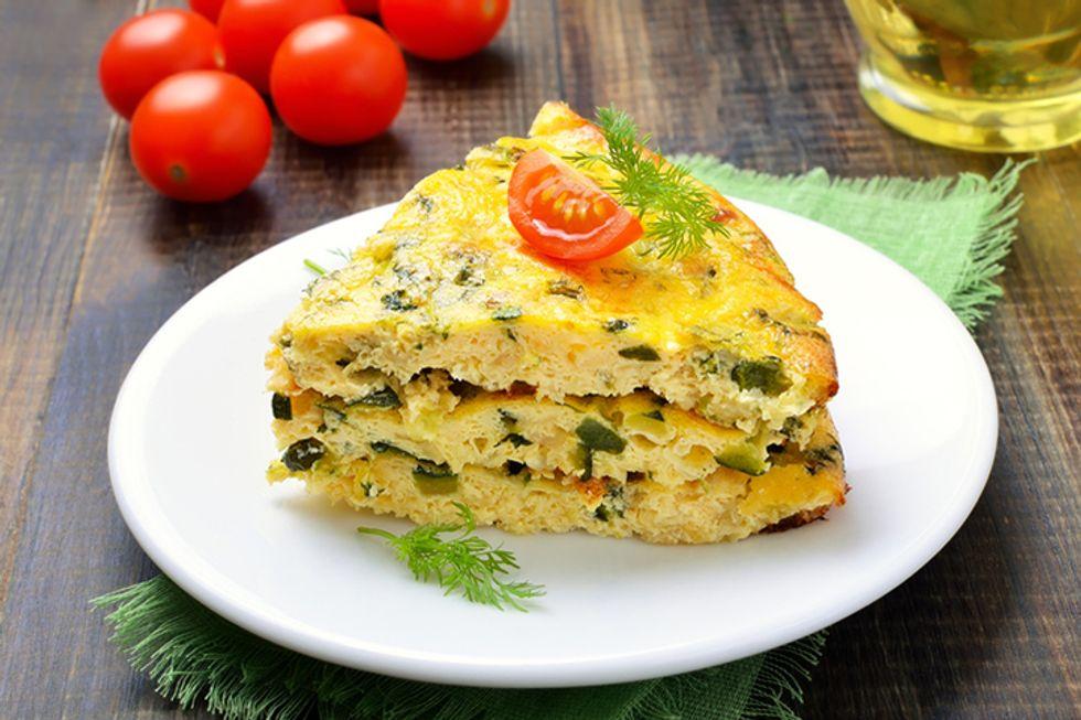 Vegetable Frittata With Quinoa Spread
