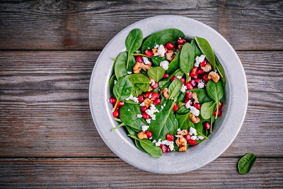 Super Seed Recipe: Spinach Pomegranate Salad