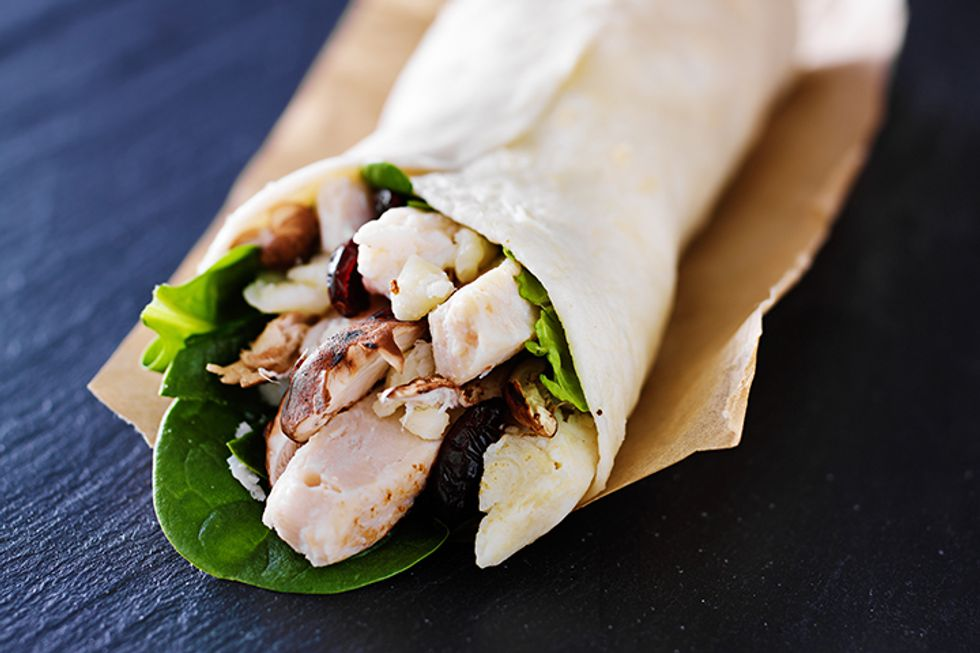 Wheat Belly Bacon and Balsamic Chicken Wraps