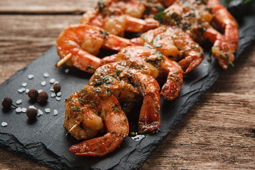 David Buer's Skinny Shrimp Taco Skewer