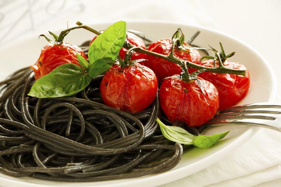 Black Bean Spaghetti and Turkey Meatballs