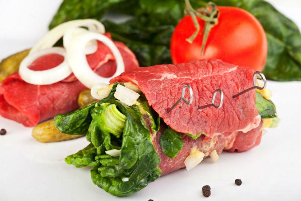 The Regimen Roast-Beef-Wrapped Pickles