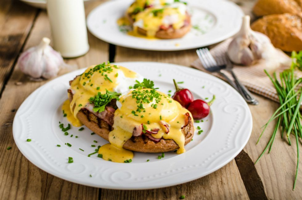 Eggs Benedict With Lighter Hollandaise
