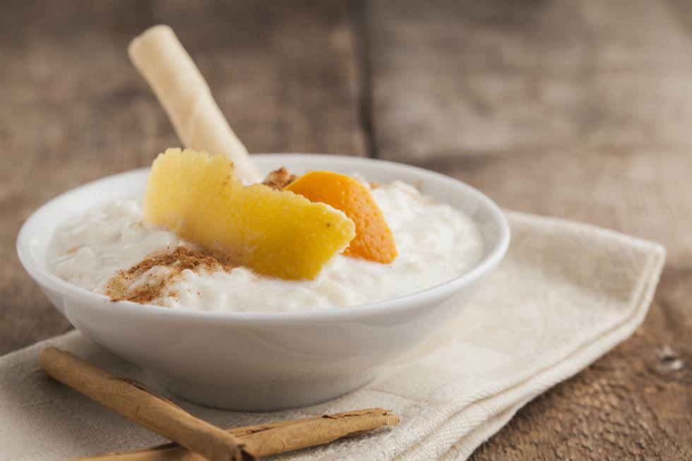 Vivian Howard's Buttermilk Orange Rice Pudding with Pistachio