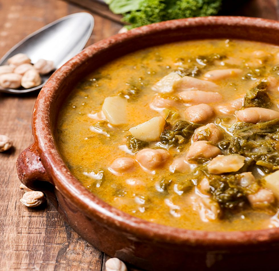 Chickpea, Chestnut, and Kale Soup