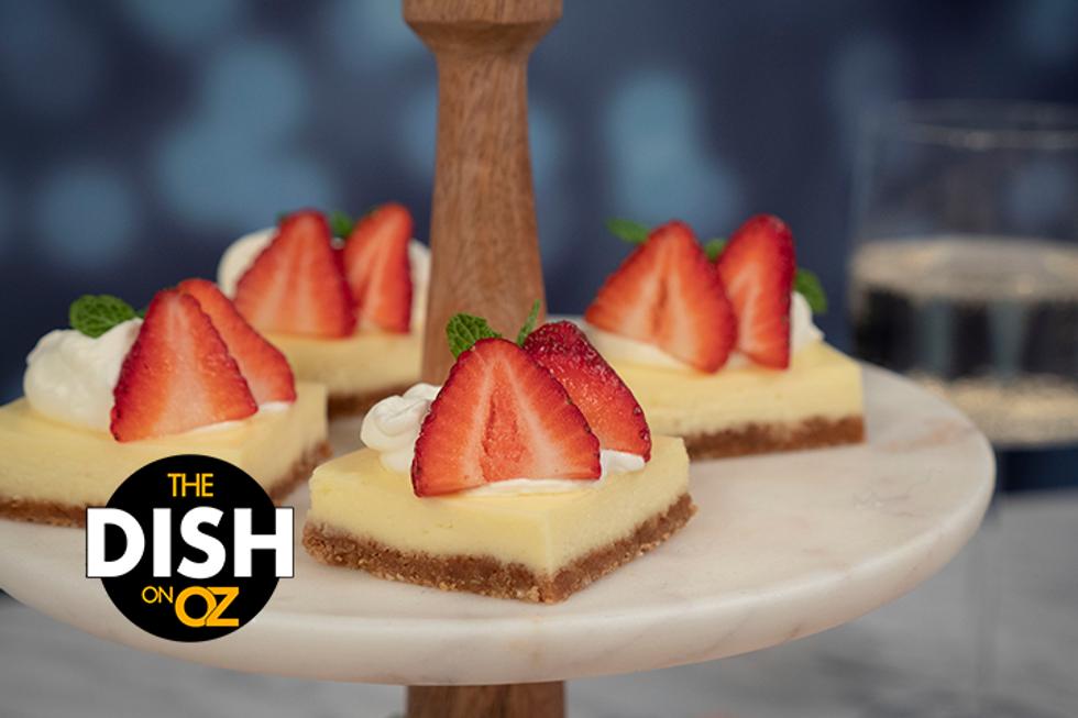 Jordin Sparks' Strawberry Moscato Cheesecake