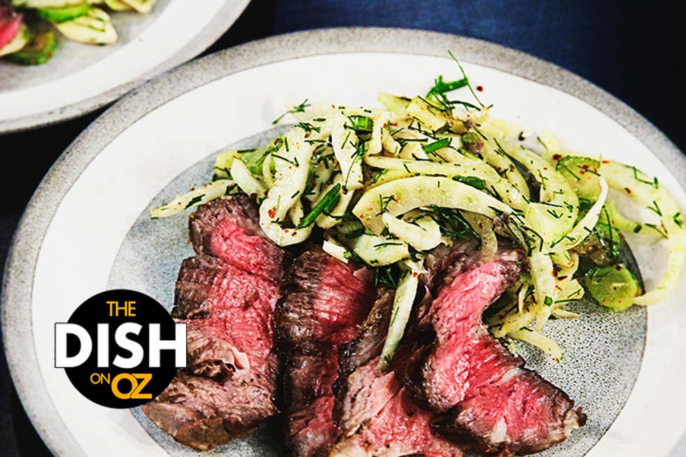 Carla Lalli Music's Butter-Basted Rib Eye With Fennel Salad