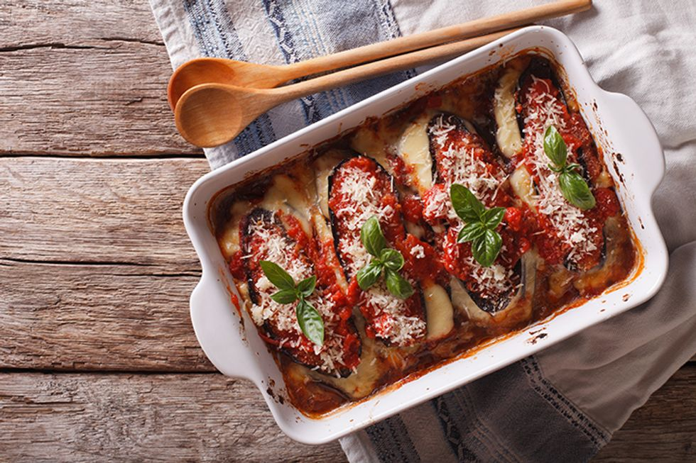 Microwave Eggplant Parmesan