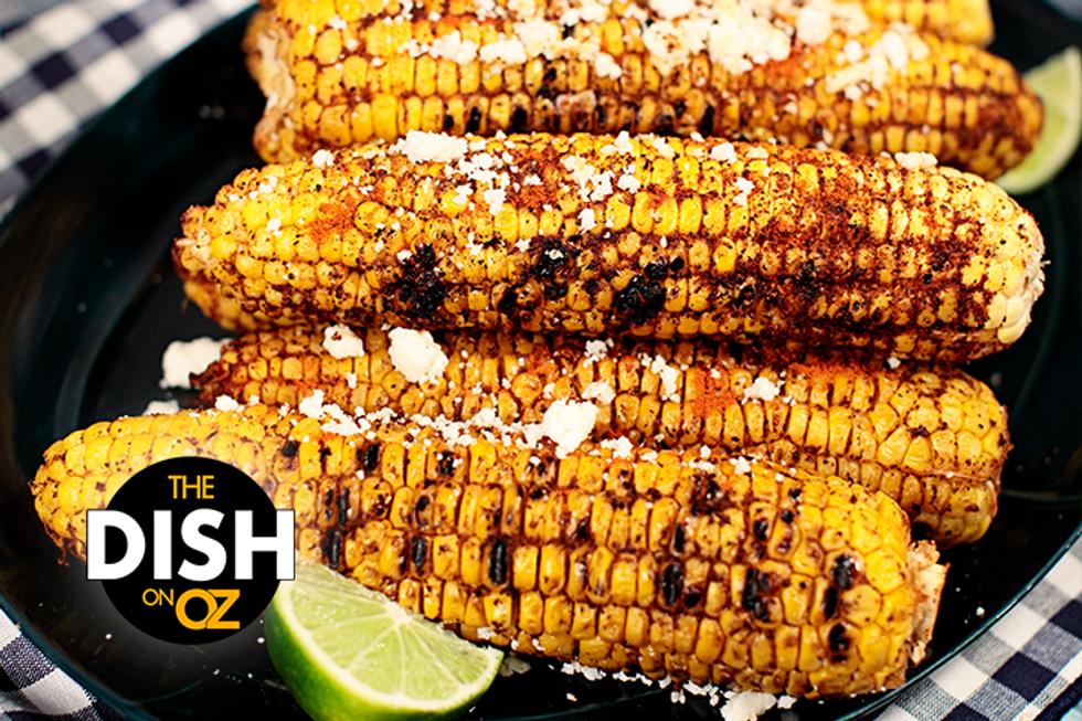Dania Ramirez's Grilled Corn With Queso Fresco