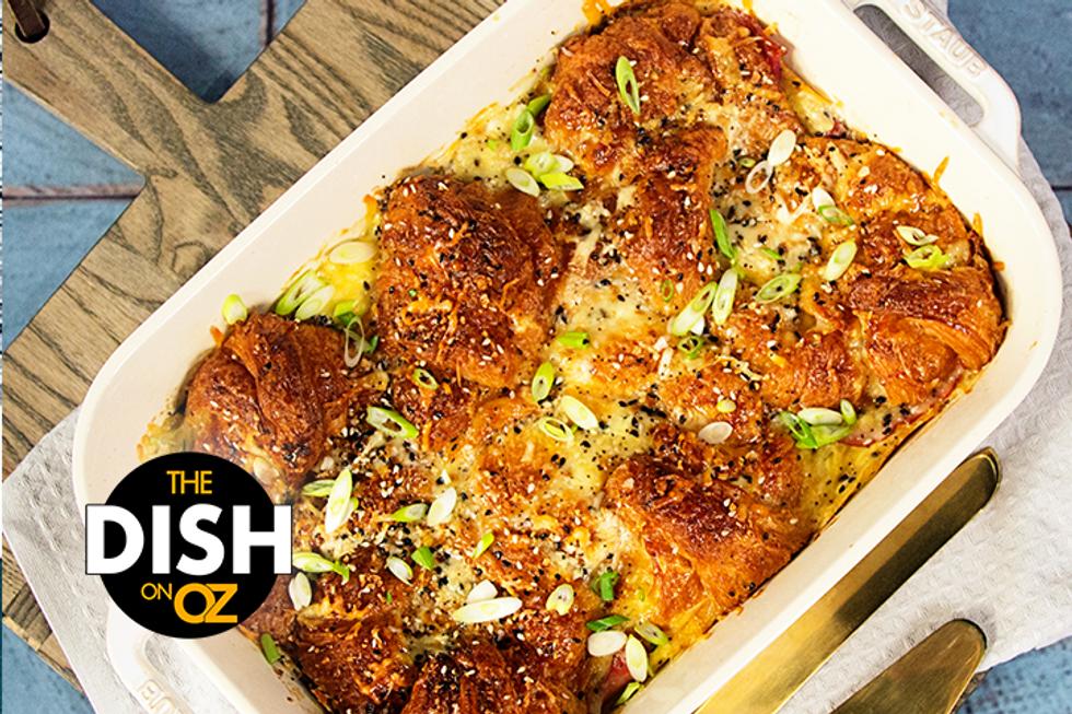 The Dish's Ham & Cheese Croissant Breakfast Bake