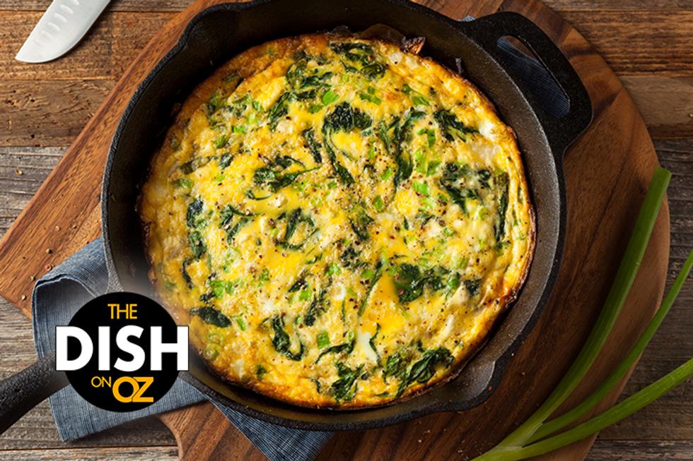 The Dish's Mushroom, Scallion, & Spinach Frittata