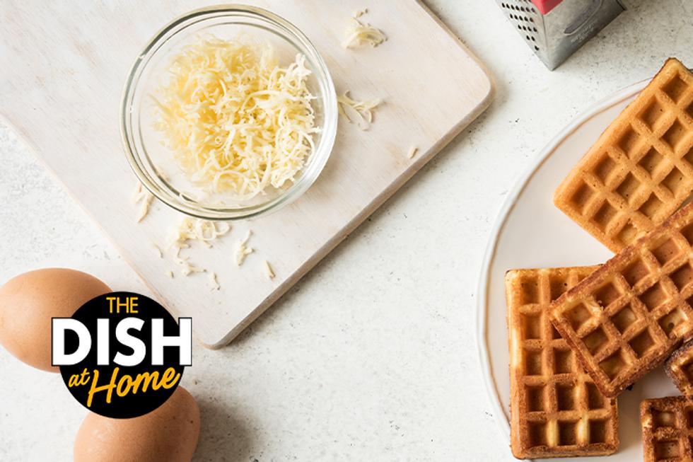 cheese egg waffle