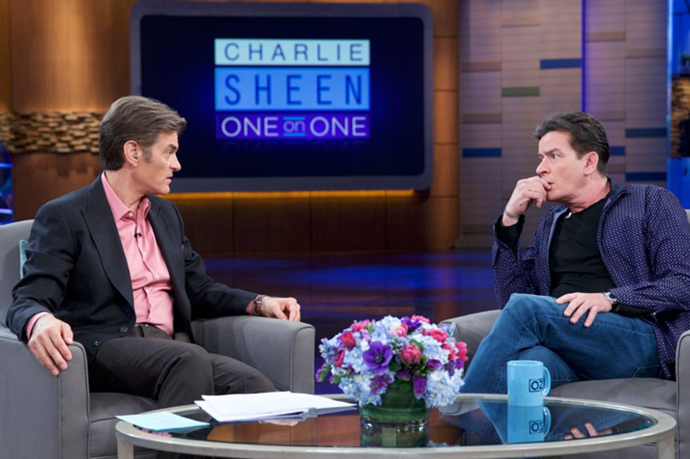 The Dr. Oz Show to Air Third Major Exclusive With Charlie Sheen in Which Dr. Oz Addresses His Diagnosis and Experience With Manic Depression