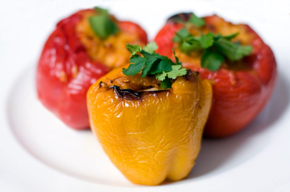The Kitchen Diva's Energy-Boosting Stuffed Bell Peppers