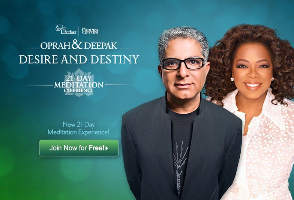 Oprah and Deepak's 21-Day Meditation Challenge