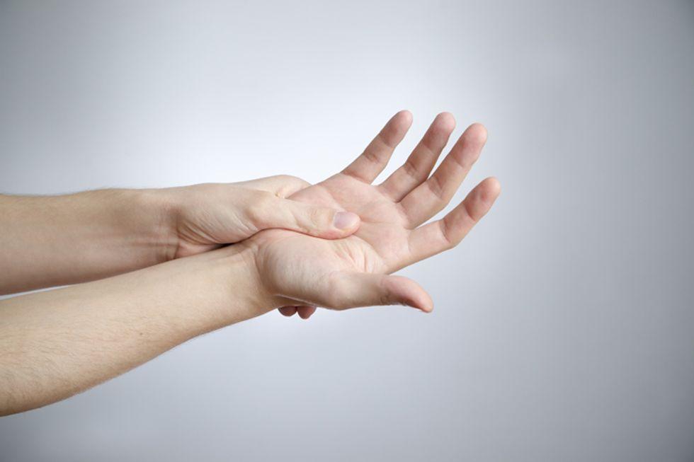 Reflexology Hand Map
