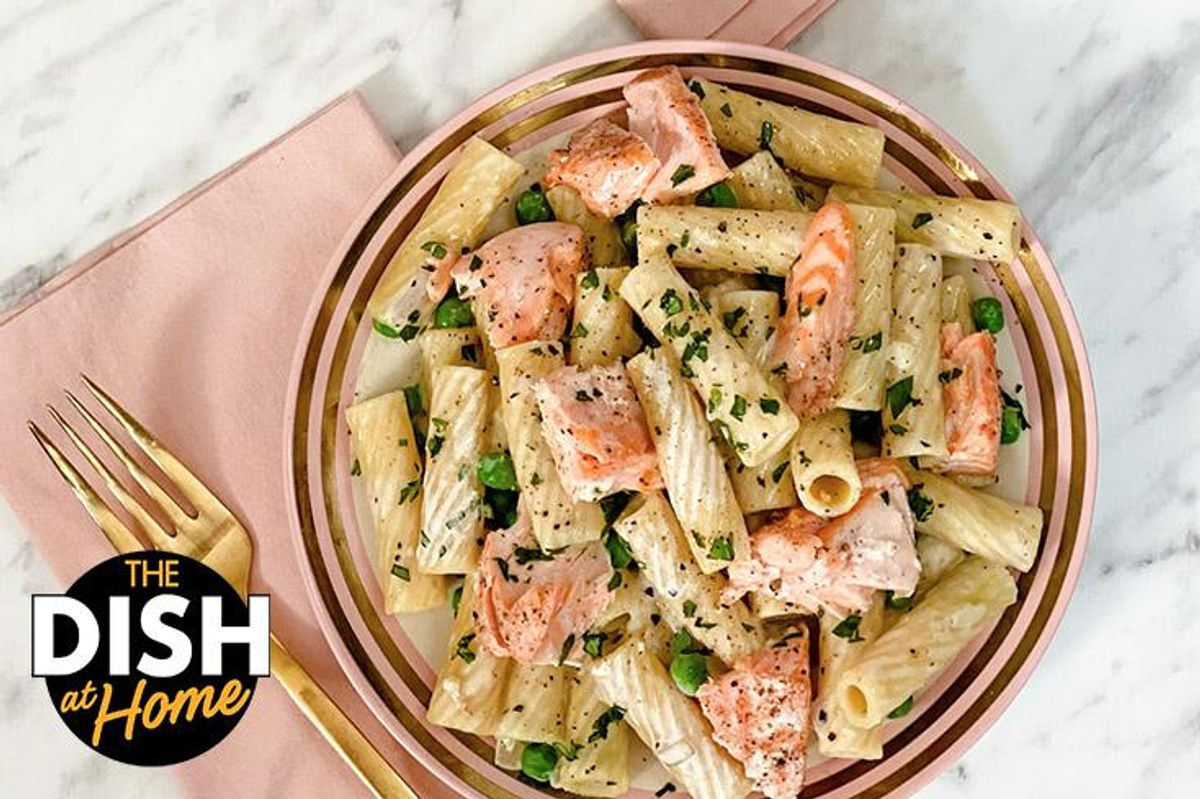 Valentine's Day Creamy Salmon Pasta