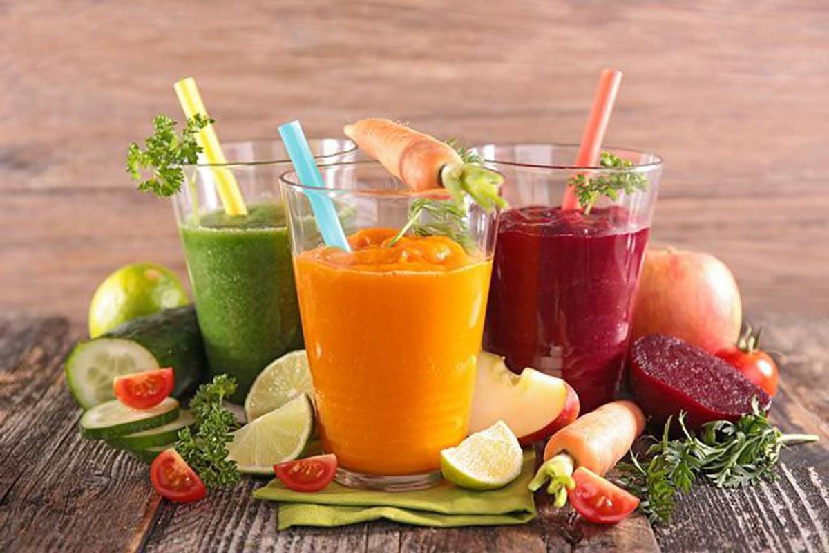 3 glasses of juice for cleanse