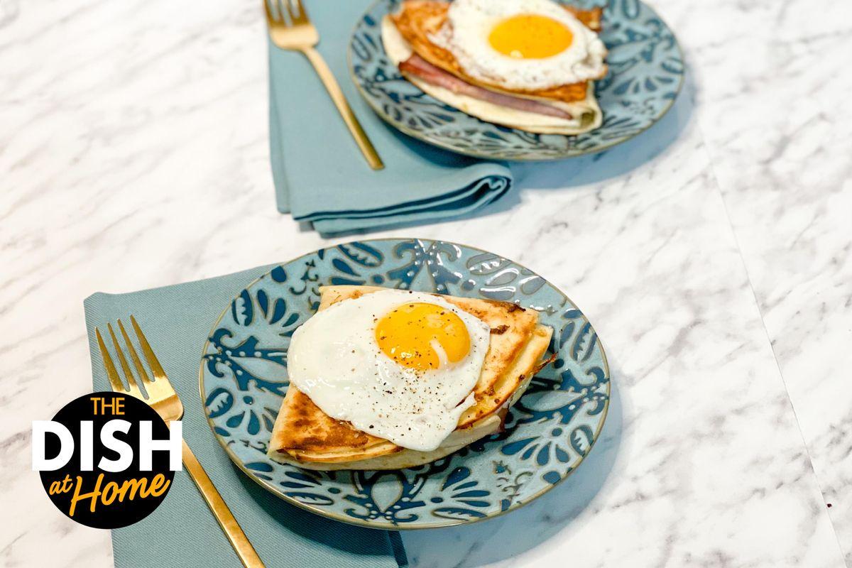 Monte Cristo Egg-Fried Tortilla Wrap