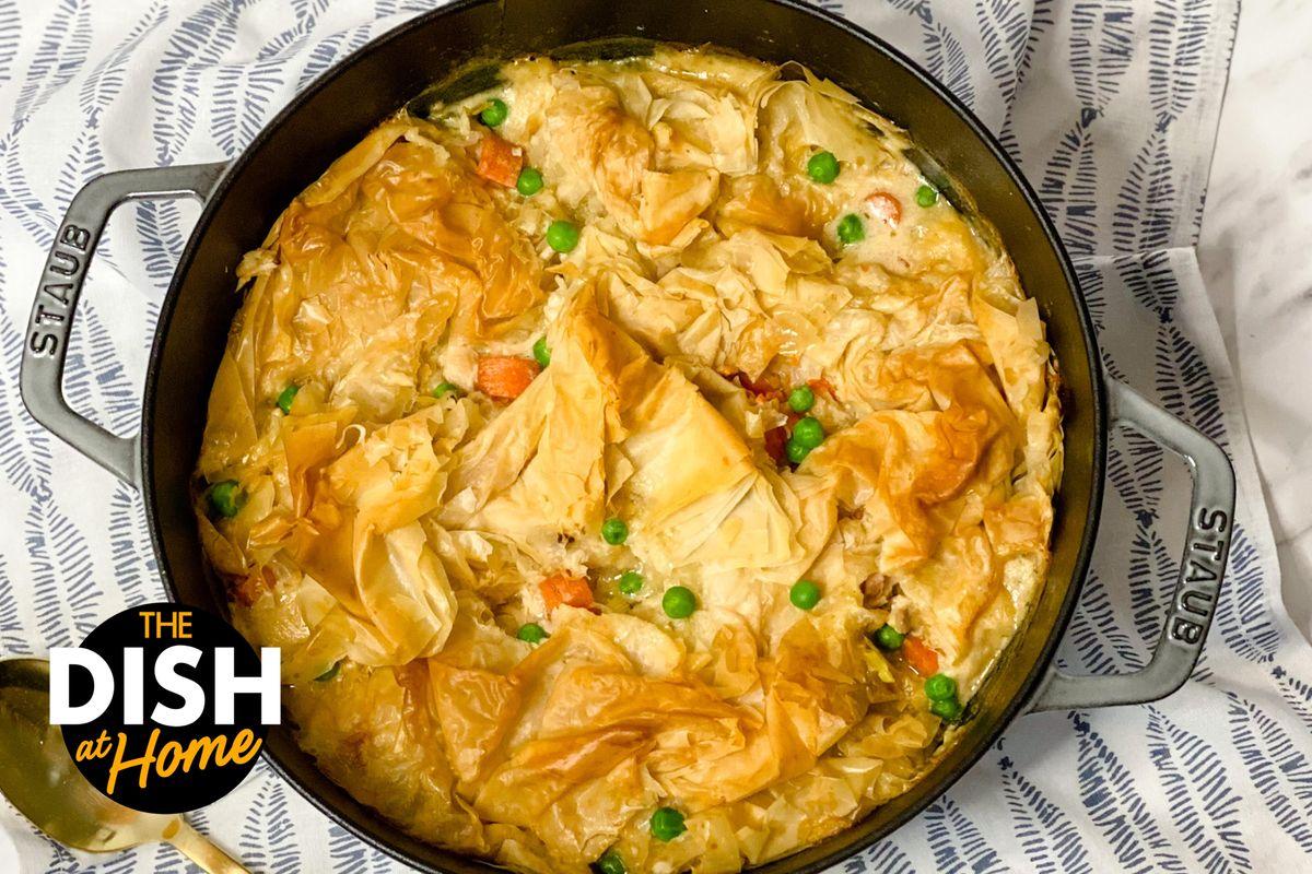 Spring Veggie Chicken Pot Pie