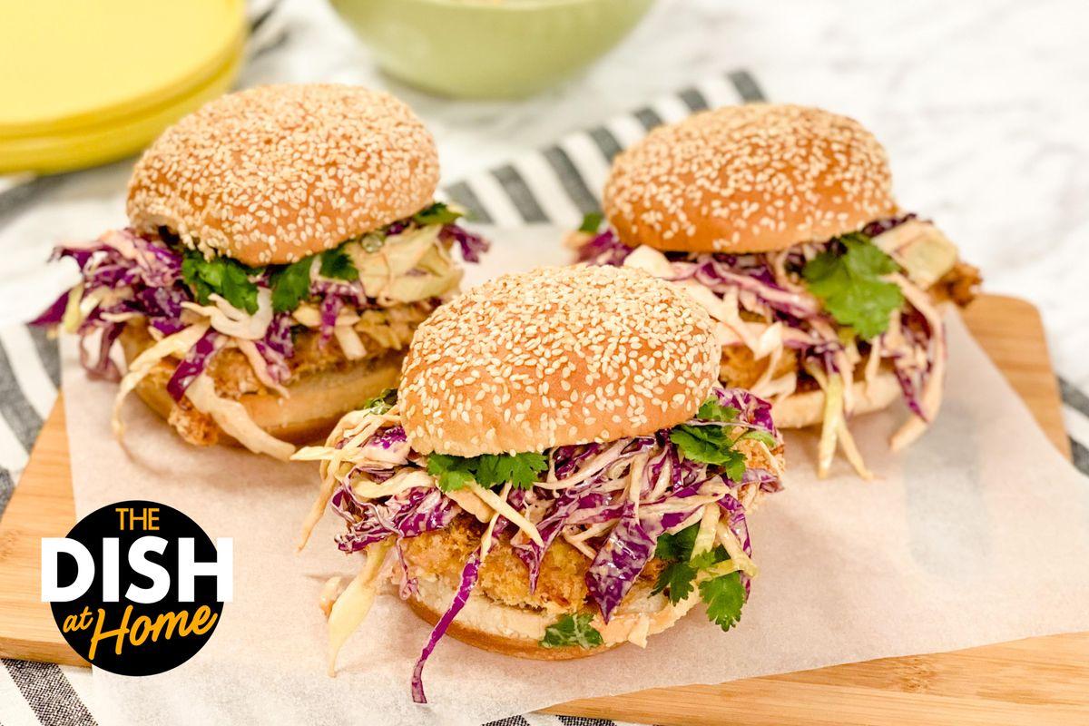 Oven-Fried Panko Chicken Sandwiches