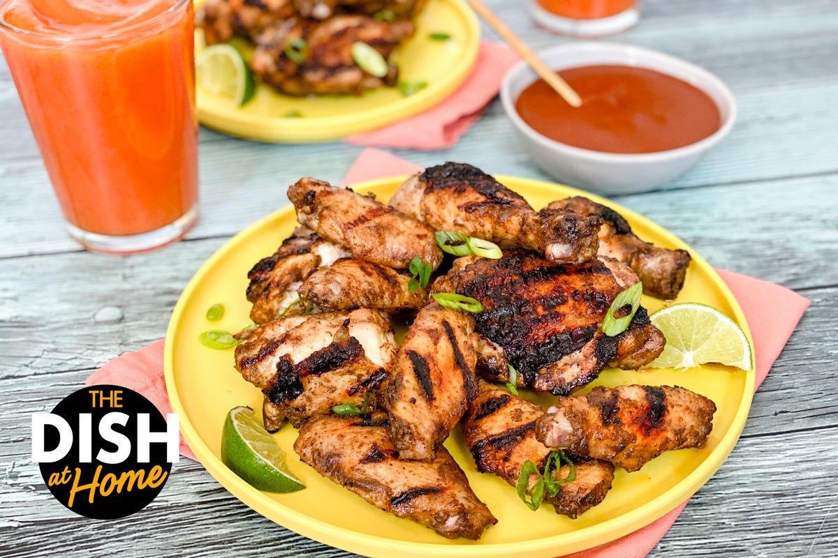 Jamika's Grilled Jerk Chicken Wings