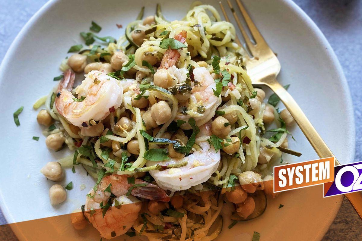 Easy Zoodle Shrimp 'Scampi'