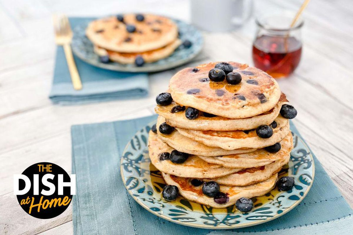 Fluffiest Gluten-Free Blueberry Pancakes